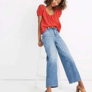 Madewell | Chesney Wash Petite Wide-Leg Crop Jeans
